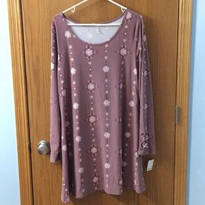 Mudd pink tunic top